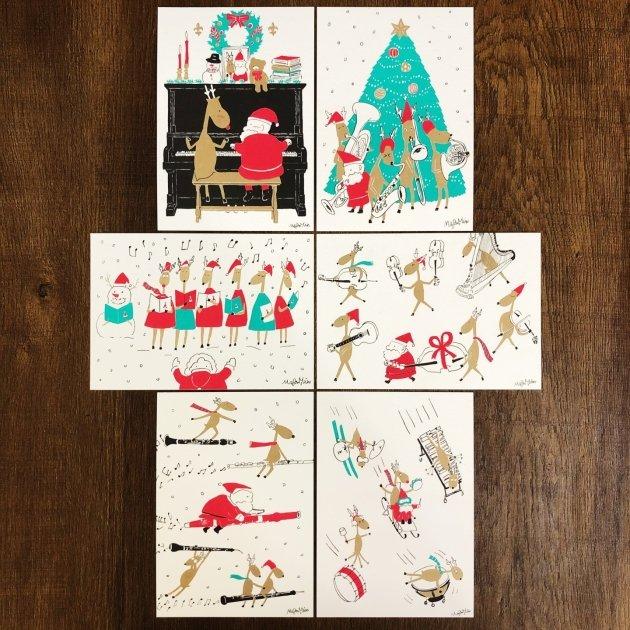 2019音樂聖誕卡全系列(六張) 1