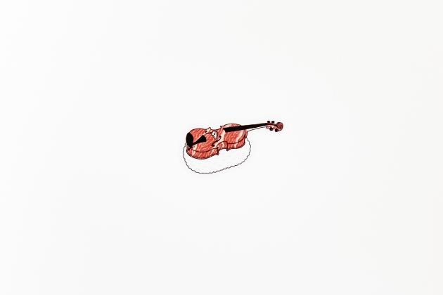 小提琴壽司貼紙 2