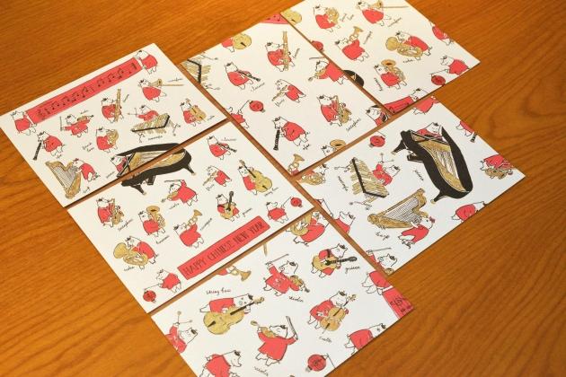 [新年快樂](上+下)豬年明信片 2